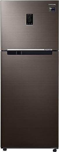 Samsung 386 L 3 Star Inverter Frost-Free Double Door Refrigerator (RT39T5C3EDX/TL, Luxe Brown) 1