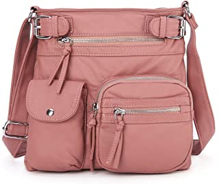 Crossover Purse and Handbags Crossbody Bags for Women Soft Leather Wallet Cute Small Neatpack Bag with Pockets