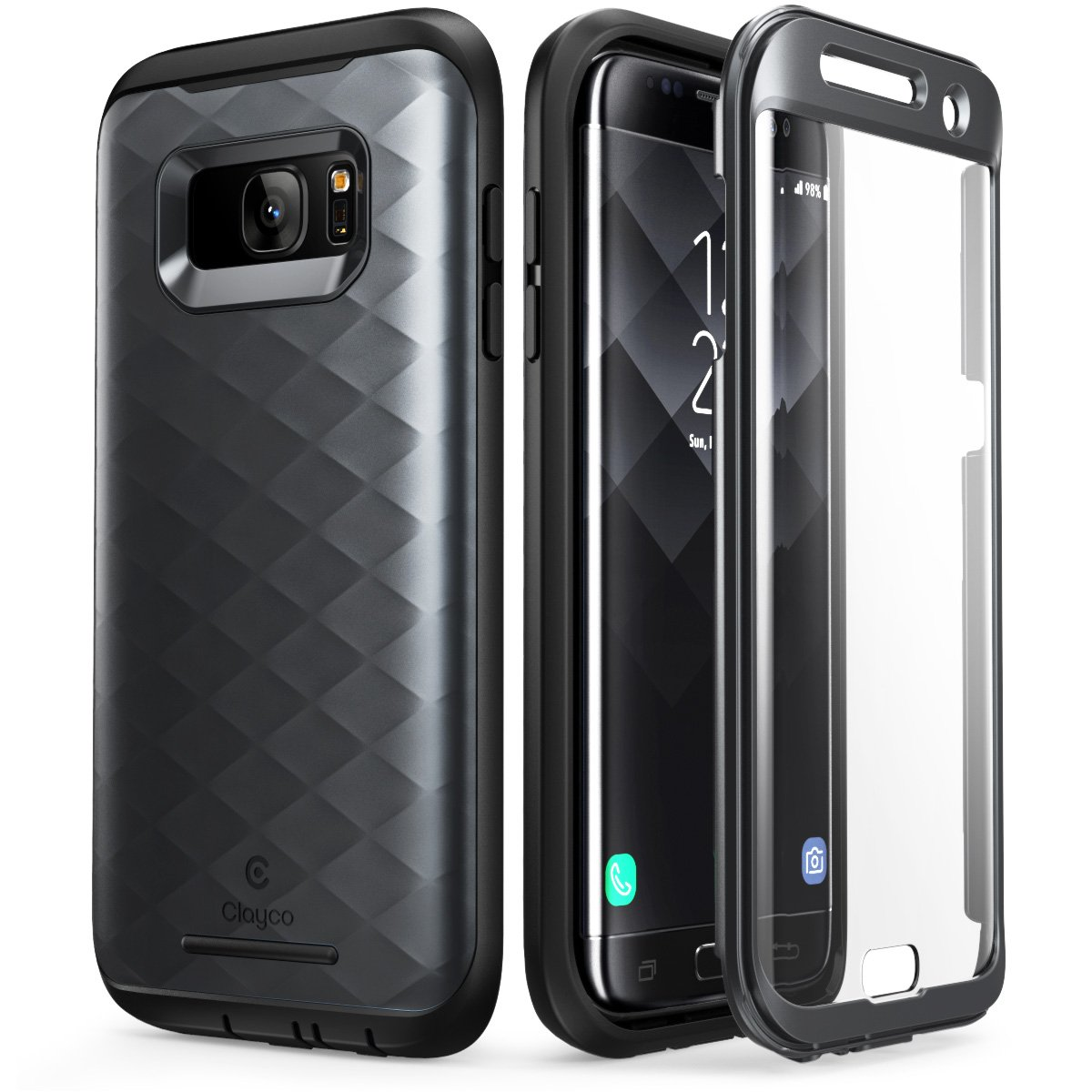 samsung galaxy s7 edge cases amazon co ukgalaxy s7 edge case, clayco [hera series] full body rugged case with