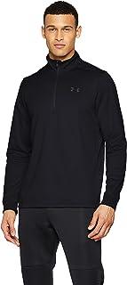 Under Armour Men's Armour Fleece 1/2 Zip Elasticated and Breathable Long Sleeve Fleece, Comfortable Half Zip Running Top
