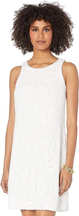 Resort White Wildflower Stripe Lace