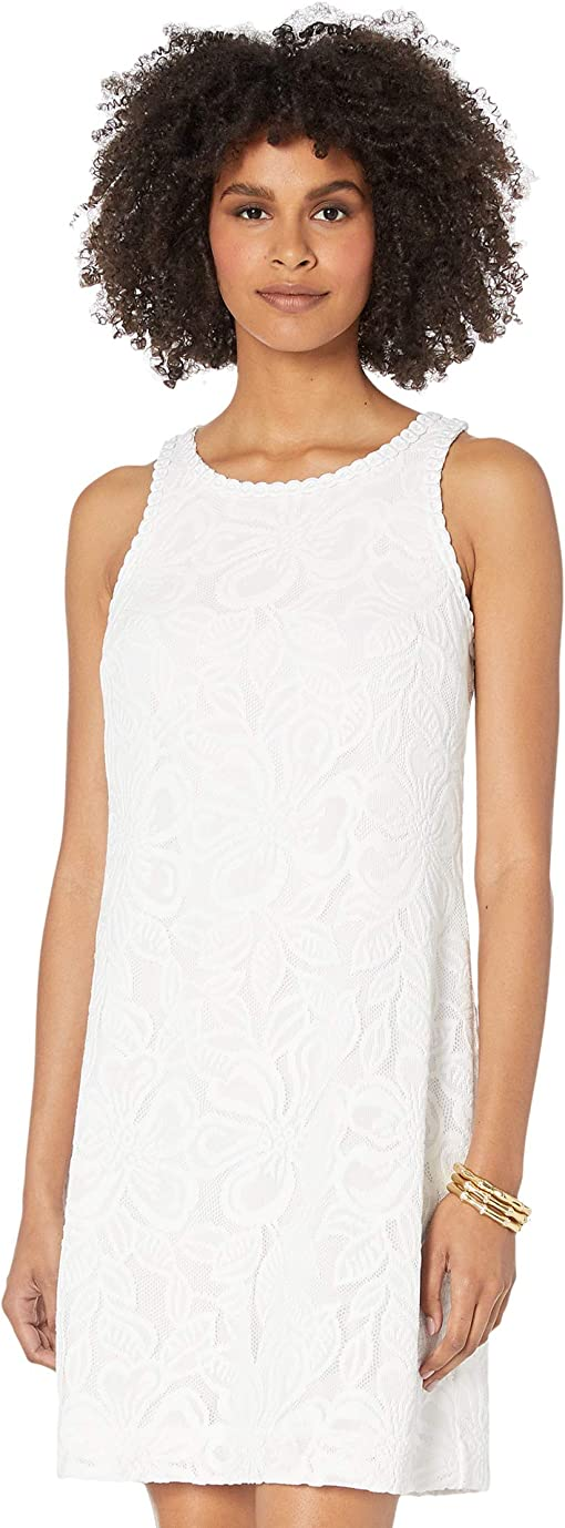 Resort White Wildflower Stripe Lace
