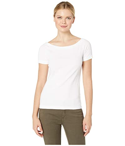 Three Dots Heritage Knit Dutchess Top (White) Women
