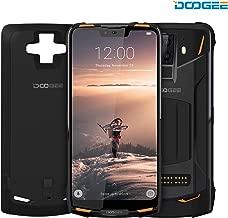 "DOOGEE S90 4G Modular Rugged Cell Phone Android 8.1-10050mAh Battery (Included Power Module) 6.18""FHD+Screen 6GB RAM+128GB ROM 8MP+16MP Camera NFC - Waterproof Unlocked Smartphone Dual Sim- Orange"