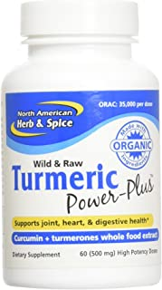 North American Herb & Spice Turmeric Power-Plus Gels, 60 Count