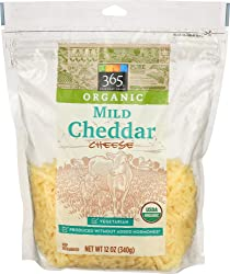 365 Everyday Value, Organic Shredded Mild Cheddar Cheese, 12 oz