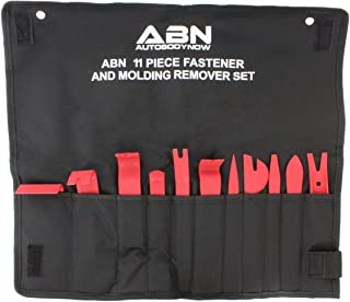 ABN Premium Auto Trim Removal Tool Kit - 11 Piece Pry Bar Set, Fastener Remover, No Scratch Trim Removal Set