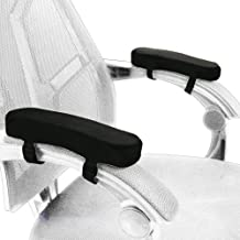 Memory Foam Chair Armrest Pad Comfy Office Chair Arm Rest Cover for Elbows and Forearms Pressure Relief(Set of 2)