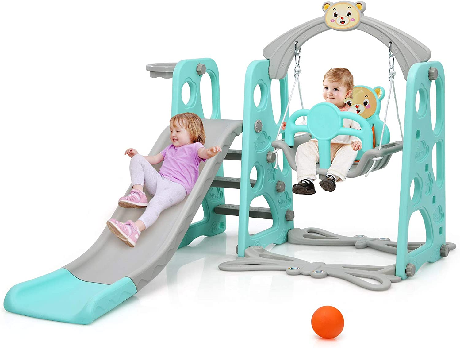 Costzon 4 in 1 Recommendation Toddler Climber Set Play discount Swing Kids and