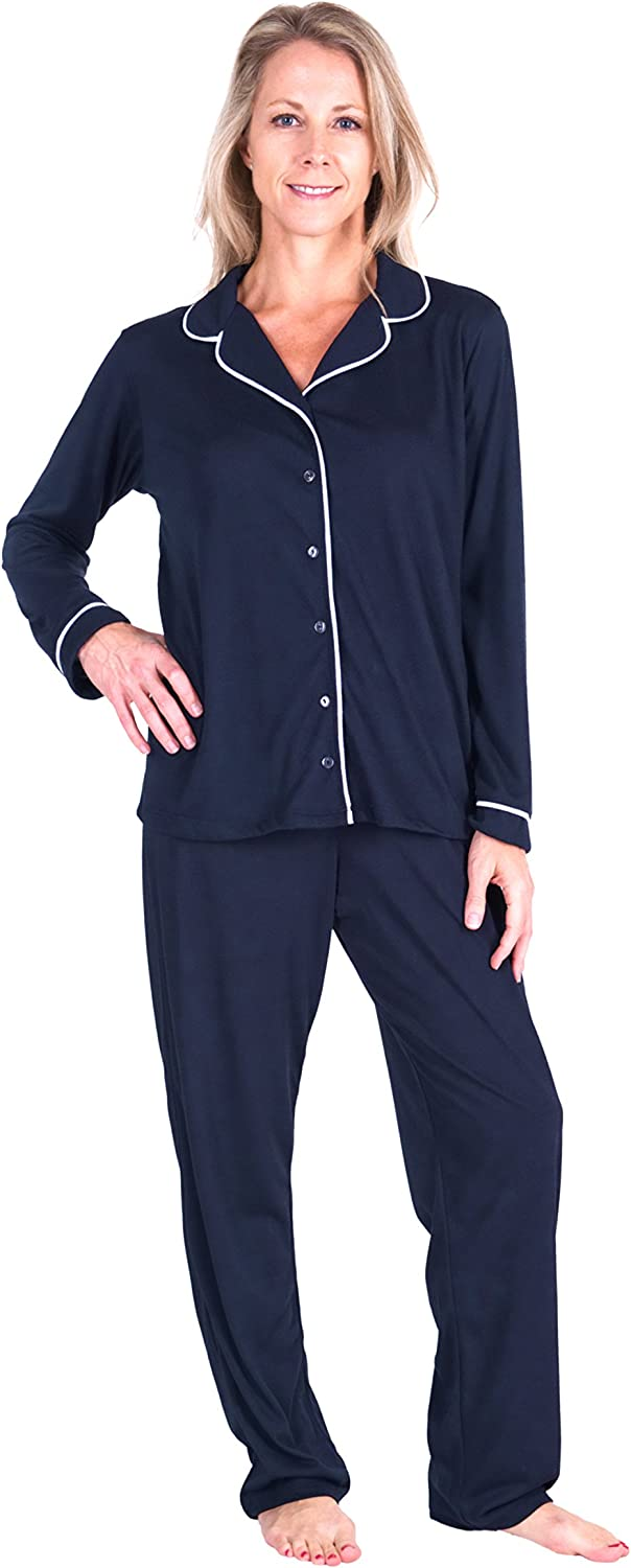 Clearance SALE Limited time Nashville-Davidson Mall Cool-jams Wicking Button Front Pajama Set