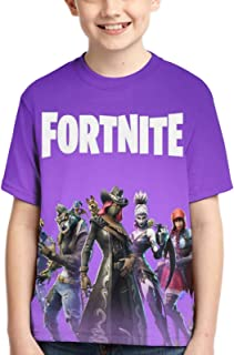 Epic Games Youth Fortnite T Shirts Short Sleeve Tops Tee for Kids Boys Teens Girls Purple