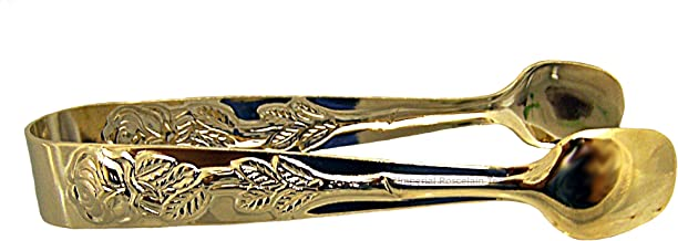 Rose Handle Sugar Tongs-Gold Plate - from Japan