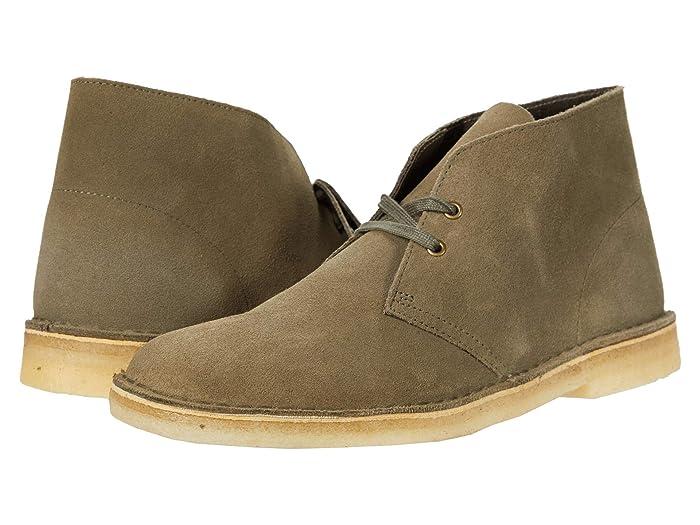 Mens Vintage Shoes, Boots | Retro Shoes & Boots Clarks Desert Boot Light Olive Suede Mens Lace-up Boots $89.99 AT vintagedancer.com