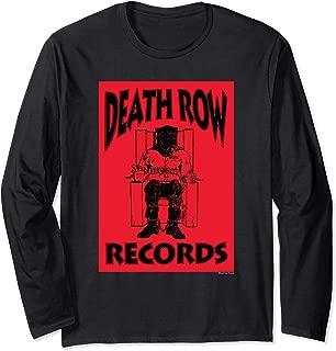 Death Row Records Logo Black Box Reversed Long Sleeve Tee