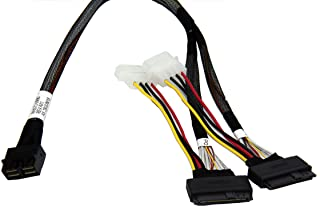 DiLinKer LSI94xx Series Dedicated 2 Port HD Mini-SAS(SFF-8643 8X) to 2 Port U.2 (SFF-8639) NvMe SSD Cable