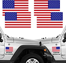 CREATRILL Reflective Full Color American Flag Stickers 2 Pairs Bundle 3