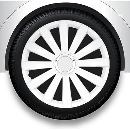 Zentimex Radzierblenden Radkappen Radabdeckung 16 Zoll 32 Weiß Abs Auto