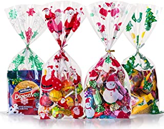 GWHOLE Candy Bags Christmas Candy Bag Treat Bags Goodies Bags for Christmas Party Favor