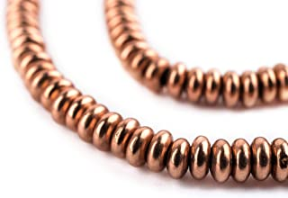 TheBeadChest Copper Abacus 5mm Beads, Full Strand of Metal Spacers for DIY Jewelry Design