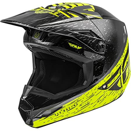 Fly Racing Kinetic Rockstar Energy Helmet Matte Grey//Black//Yellow All Sizes