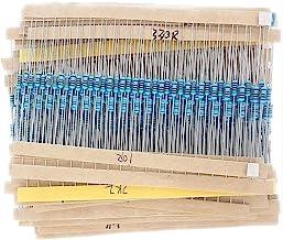 McIgIcM Resistor kit,600pcs Electronics 1/4W Metal Film Resistor kit 1% 30 Value 1/4w resistors Pack Metal Film Full Range...
