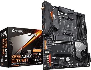 GIGABYTE X570 AORUS Elite واي فاي (AMD Ryzen 3000/X570/ATX/PCIe4.0/DDR4/Intel Dual Band 802.11AC Wi-Fi/Front USB Type-C/RG...
