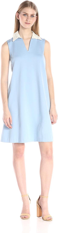 Nanette Nanette Lepore Womens Sleeveless Lace Collar Ponte Trap Dress