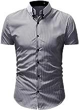 CICIYONER Herren weißes Hemd Slim Fit Kurzarm   Schwarzes Männer Stretch Kurzarmhemd Freizeithemd   Jungen Kurzarmshirt Sommerhemd Business T-Shirt Freizeit Party