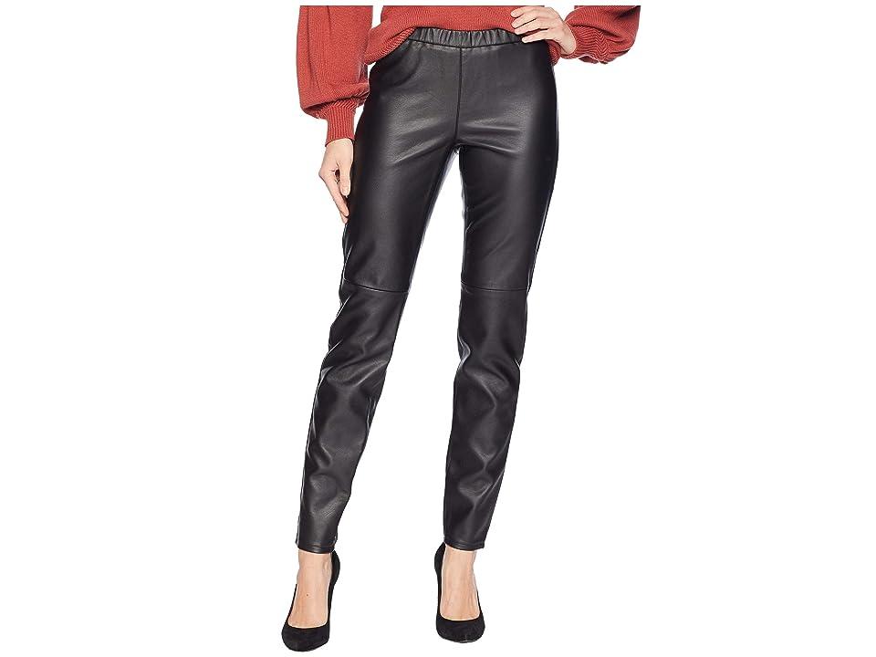 MICHAEL Michael Kors Faux Leather Leggings (Black) Women