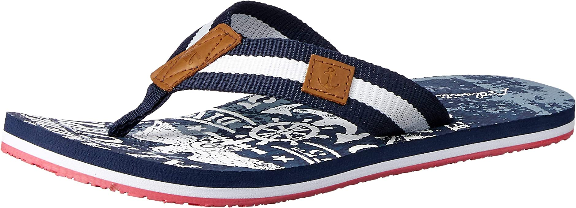 Atlantis Shoes Men's Navigation Eagle Thong Sandals