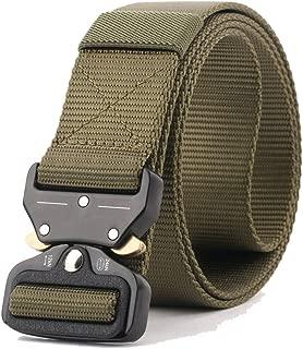 Tactical Military 1.96 inch Metal Buckle Riggers Belt, Quick Release Heavy Duty Waist Belt, EDC BDU CQB Nylon Web Molle Belt for Men Women
