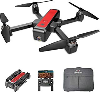 MARSMO B4W FPV Drone with 2K Live Adjustable Camera, Foldable RC Quadcopter for Adult with Brushless Motor, GPS System, Auto Return Home, Altitude Hold, 5G WiFi Transmission,Follow Me and Handheld Bag