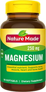 Nature Made Magnesium 250 mg Softgels, 90 Count for Nutritional Support† (Packaging May Vary)