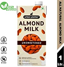 Urban Platter Almond Milk, 1 Litre [Unsweetened, Lactose-Free, Plant-Based Milk Alternative]