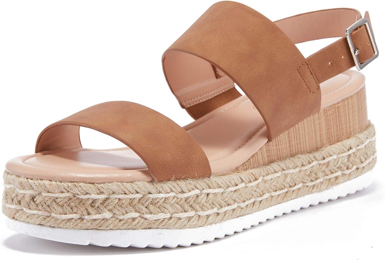 Brand new LAICIGO Beauty products Women's Platform Espadrilles Ankle Buckle Ope Strap