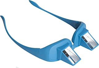 Pain Free Posture Therapy Prism Glasses (Blue)-Safe & Easy Light Weight Lie Down Reading & Watching TV Eyeglasses- Horizontal Neck Strain & Pain Reducer- Egoscue Exercises & Tower Addition
