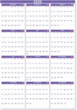 2020 Yearly Wall Calendar - 2020 Yearly Full Wall Calendar with Thicker Paper, January 2020 - December 2020, Bonus Pocket, 34.3