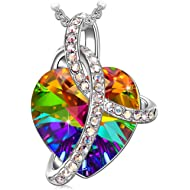 SIVERY 'Love Heart' Women Necklace Pendant with Swarovski Crystals, Gifts for Mom, Jewelry for Women