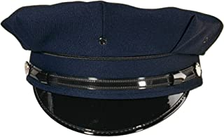 Professional 8 Point Navy Blue Police Security Cap Size 7 3/8