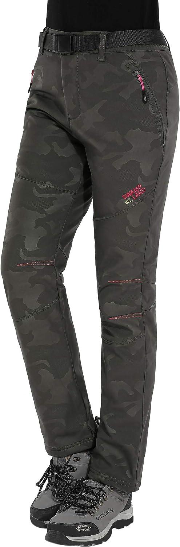 HAINES Pantalones de Montaña Mujer Invierno Pantalon Softshell Impermeable Pantalón da Senderismo y Trekking