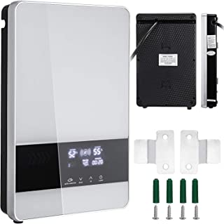 ZGYQGOO 24KW 380V Instant Water Heater Electric 3 Phase Water Heater LED Digital Tankless Water Boiler for Kitchen Or Bathroom (24KW)