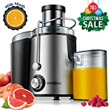 Juicer, Oneisall Juice Extractor with Anti-Drip Spout, Ultra Fast Extract Centrifugal Juicer for Fruits and Vegetables, Easy to Clean plus Quiet Motor & Non-Slip Feet, Stainless Steel & BPA Free