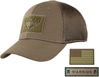 53f9912a424ff Active Duty Gear Condor Flex Mesh Cap (Brown) + PVC Flag   Warrior Patch