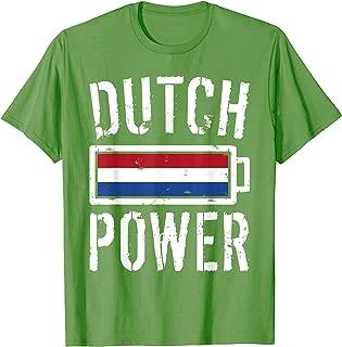 Netherlands Flag T-Shirt | Dutch Power Battery Proud Tee