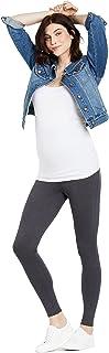 Motherhood Maternity Leggings para Ombligo de Rizo francés de Longitud Completa Leggings para Mujer