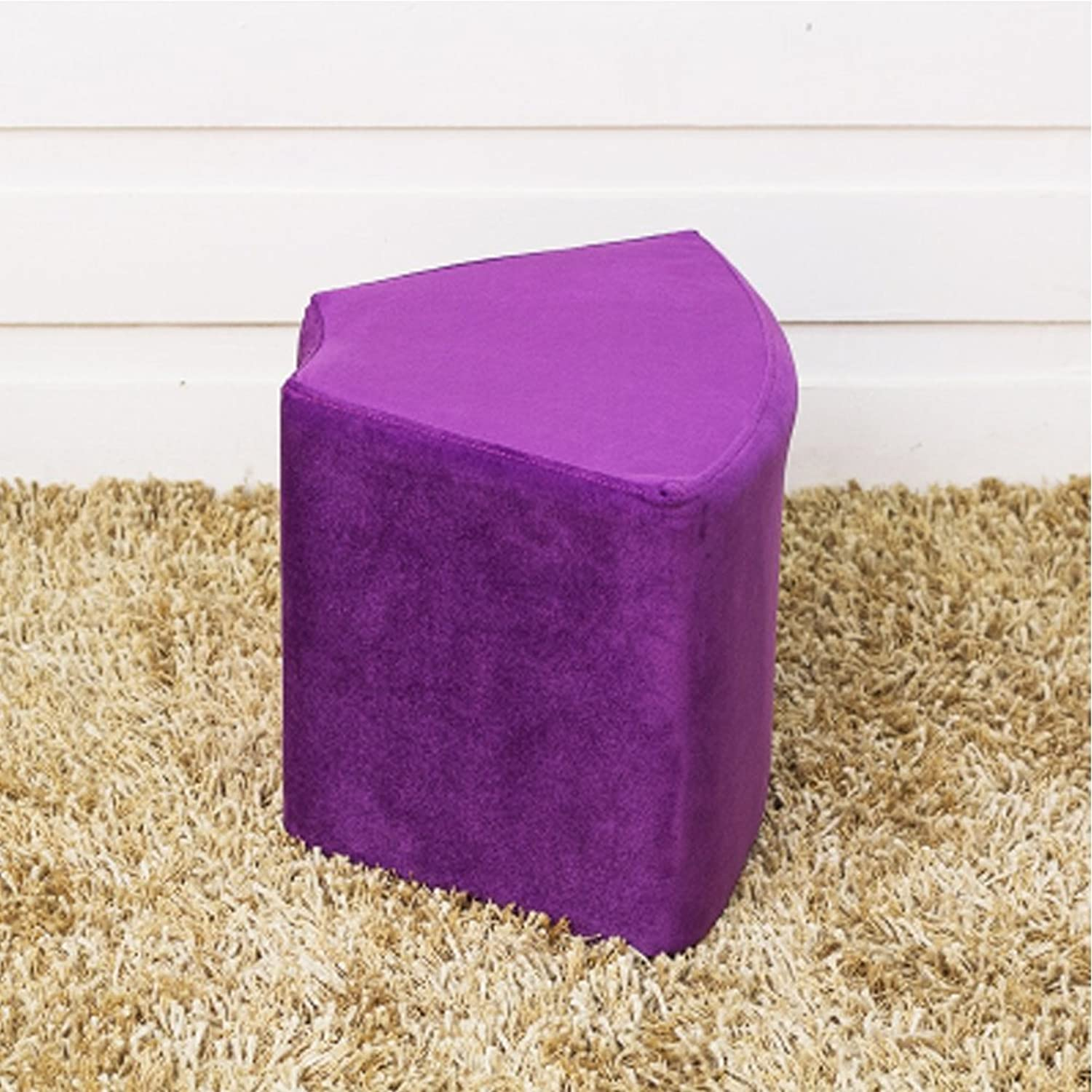 Fabric Stool Creative Sofa Bench Solid Wood shoes Stool colorful Stool(41x33x27cm) 0520 (color   Purple)