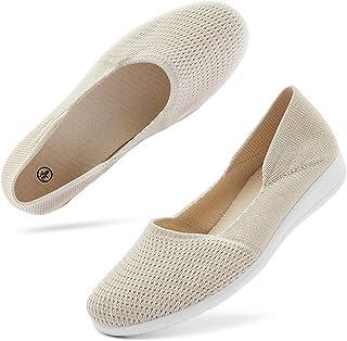 hash bubbie Women's Casual Sneakers Slip on Mesh Tennis Shoes Work Nurse Flat Shoes