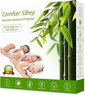 Comfier Sleep Protector de Colchón Impermeable 140 x 200 cm - Cubre Colchón Transpirable e Fresca , Funda de colchón de bambú, Hipoalergénico, Anti-Ácaros