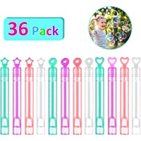 FUNEW 36 Pack Mini Bubble Wands Assortment Party Favors Toys for Kids
