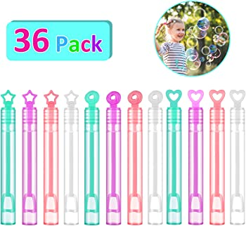 FUNEW 36 Pack Mini Bubble Wands Assortment Party Favors Toys